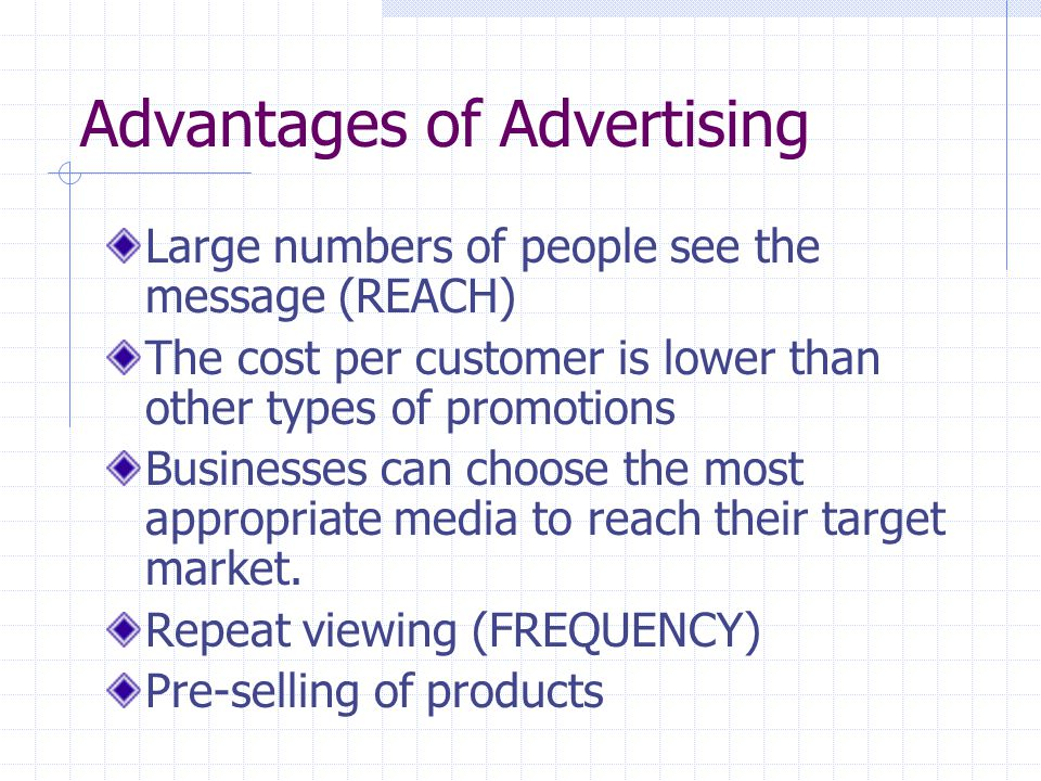 Advantages of Advertising