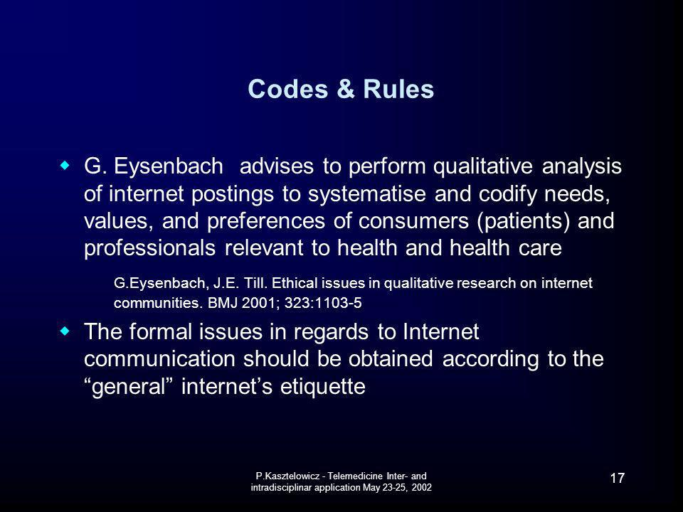 Codes & Rules