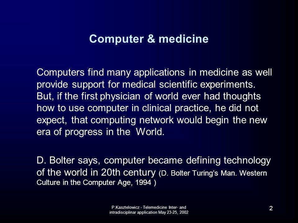 Computer & medicine