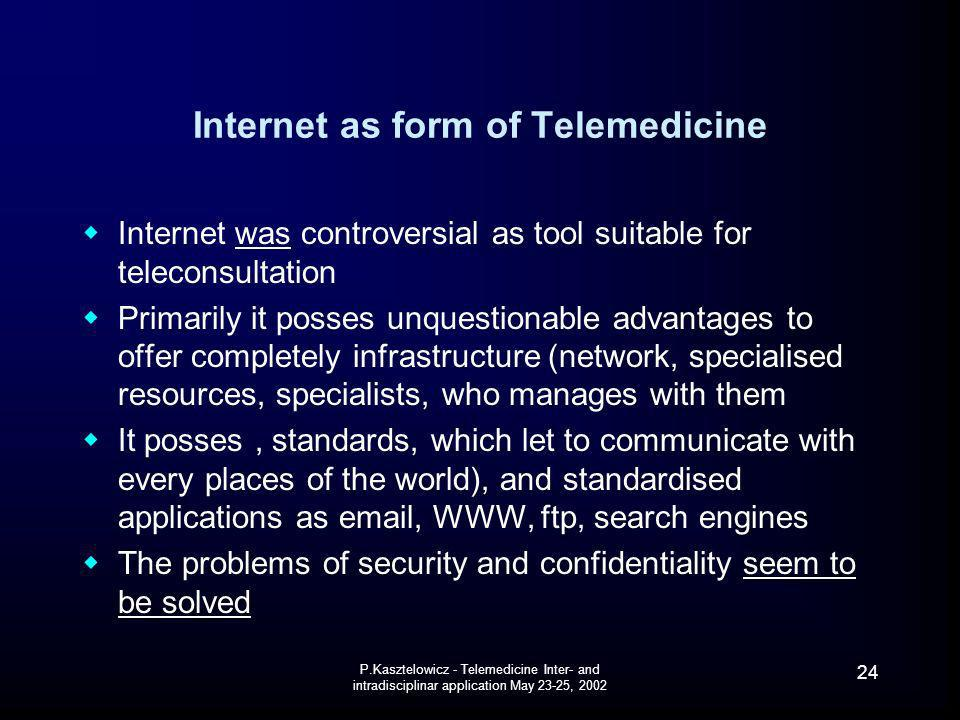 Internet as form of Telemedicine