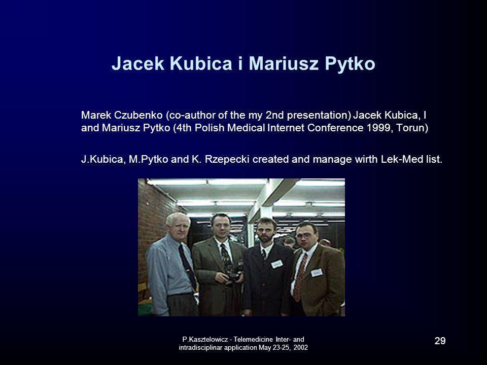 Jacek Kubica i Mariusz Pytko