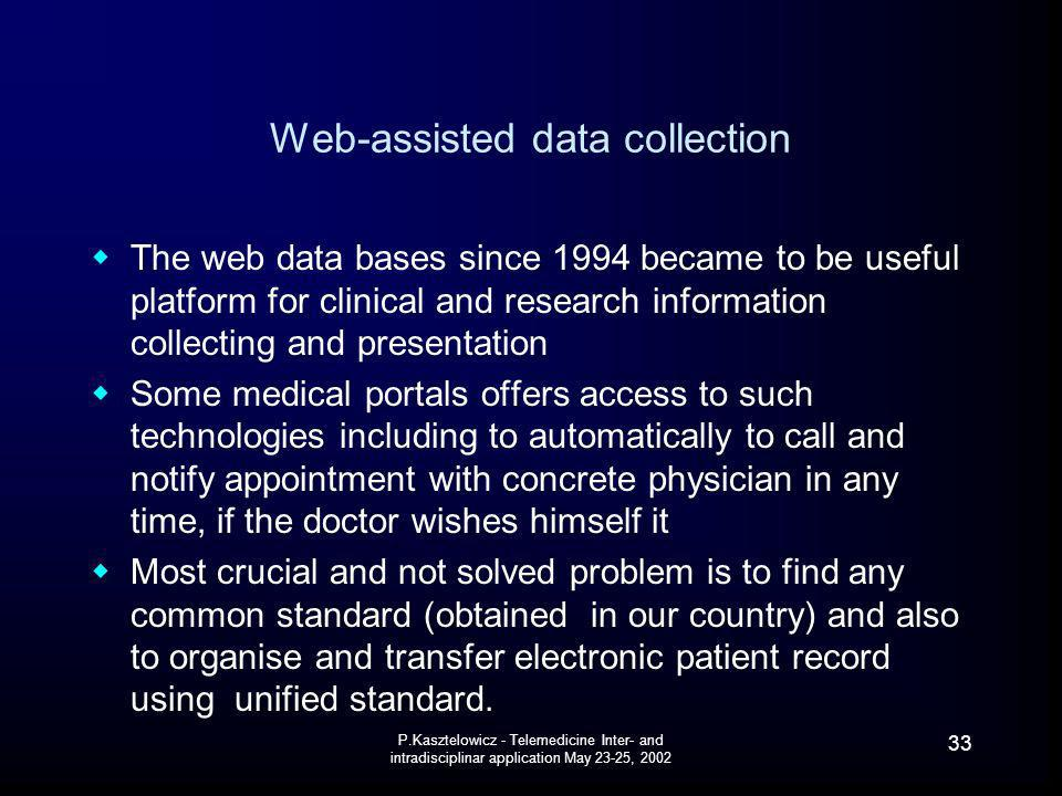 Web-assisted data collection