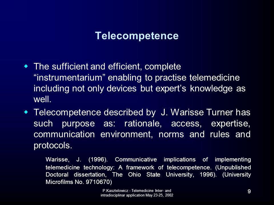 Telecompetence