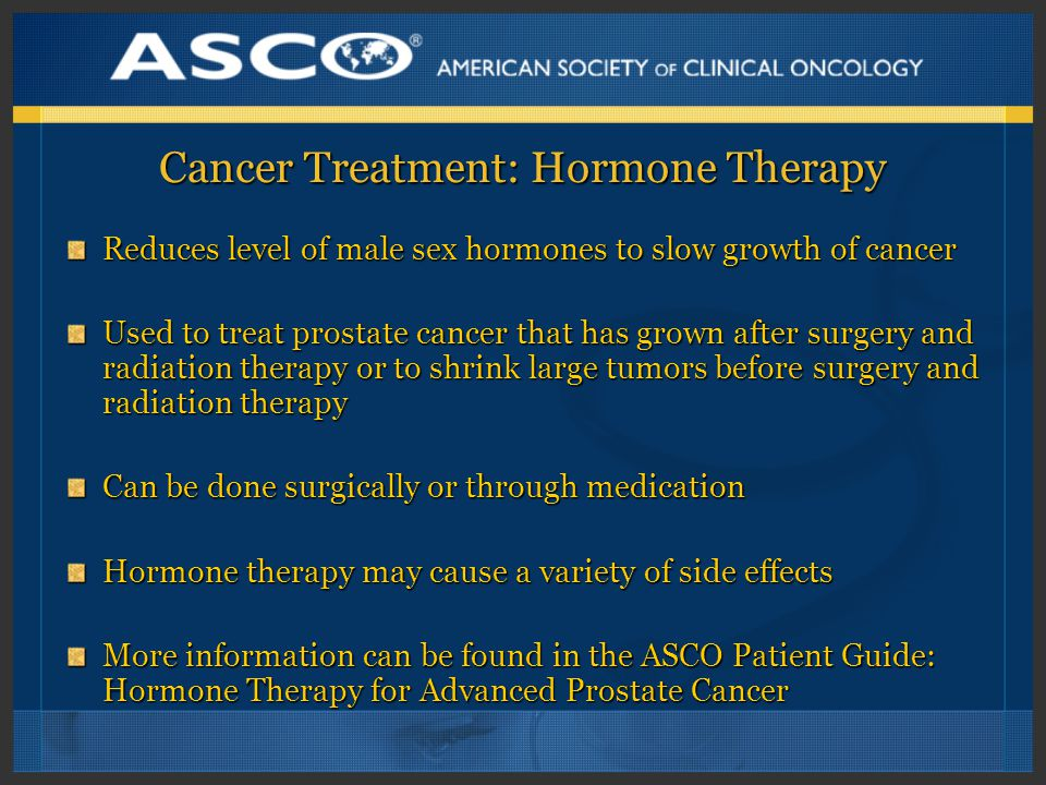 Cancer Treatment: Hormone Therapy