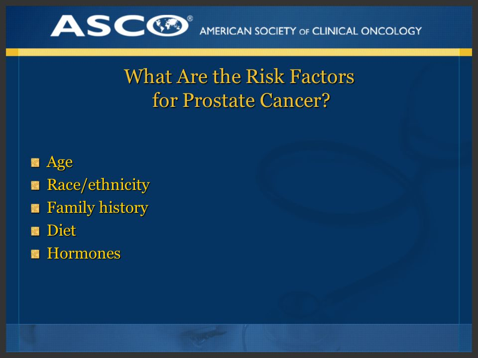 What Are the Risk Factors for Prostate Cancer