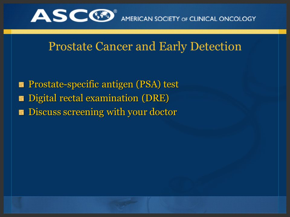 Prostate Cancer and Early Detection