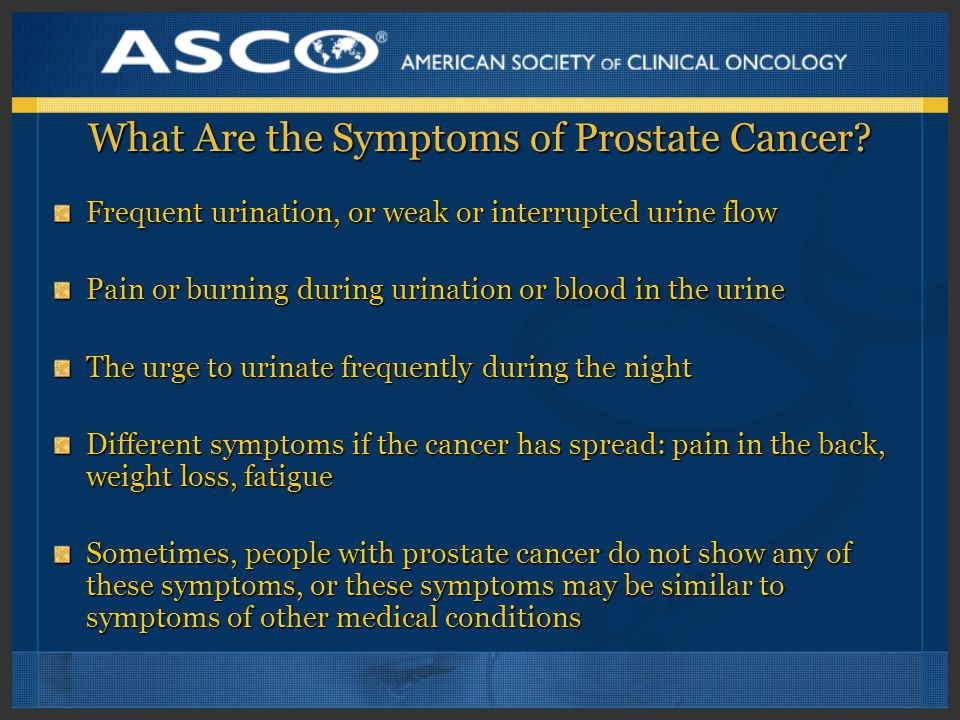 What Are the Symptoms of Prostate Cancer