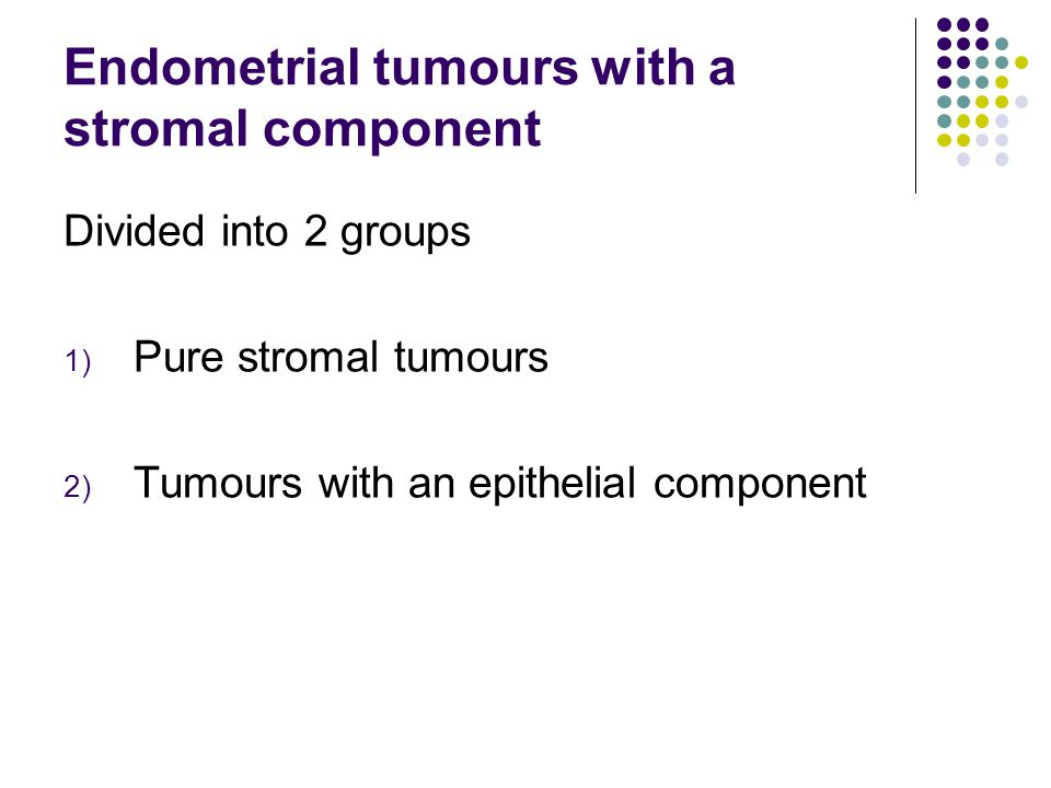 Endometrial tumours with a stromal component