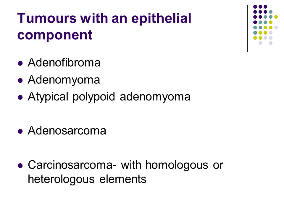 Tumours with an epithelial component