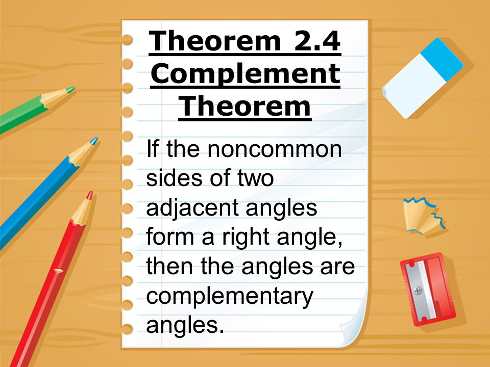 Theorem 2.4 Complement Theorem