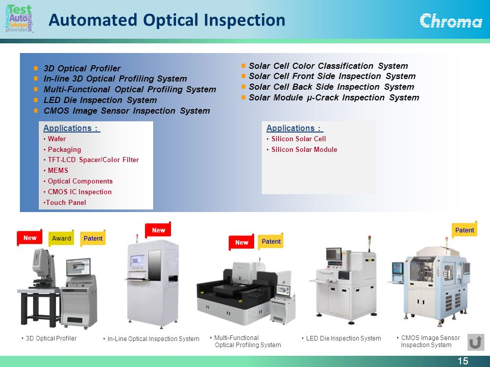 Automated Optical Inspection : Working on better solutions company profile chroma