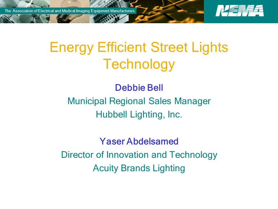 Energy efficient street lights technology ppt video for Energy efficient brands
