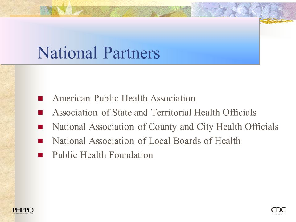 National Partners American Public Health Association