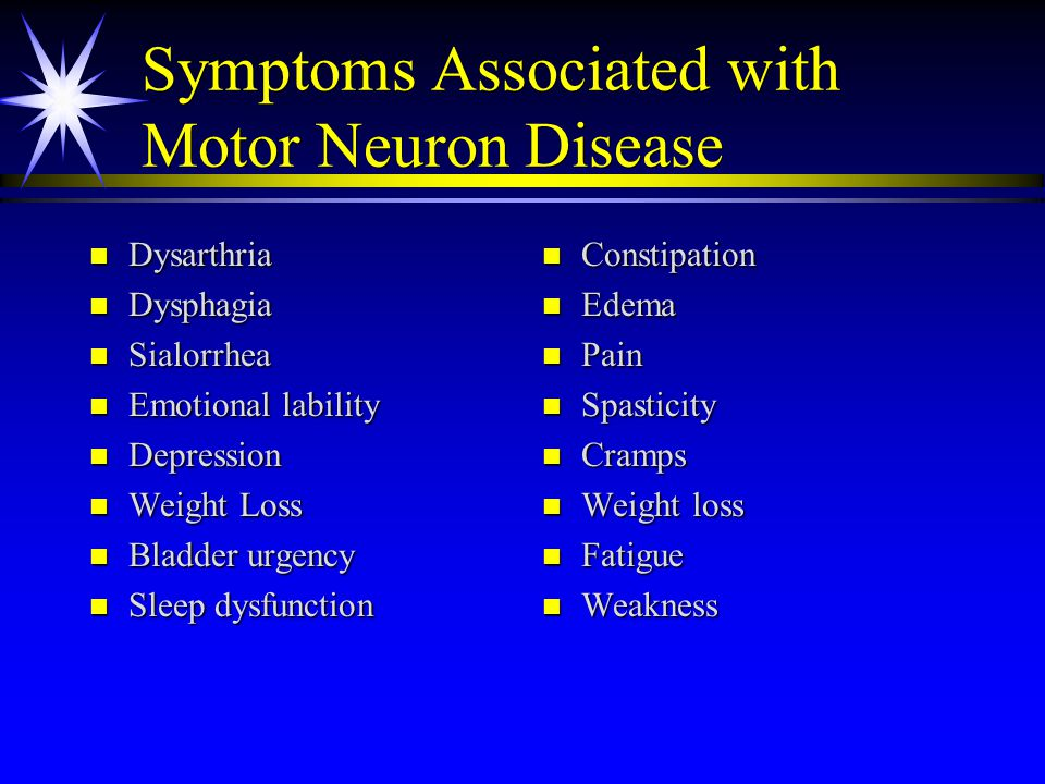 signs and symptoms of motor neuron disease