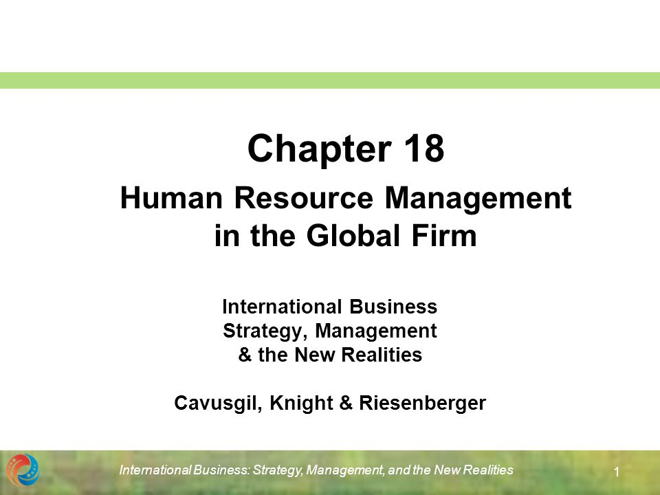 ch 1 human resource management in