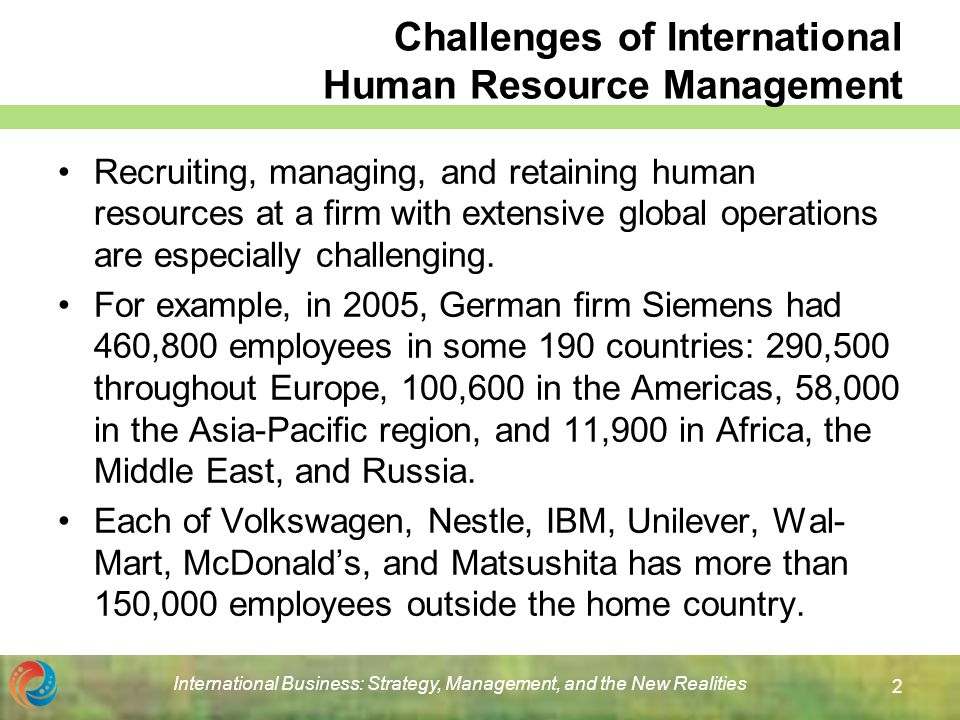Mcdonald's International Human Resources Management