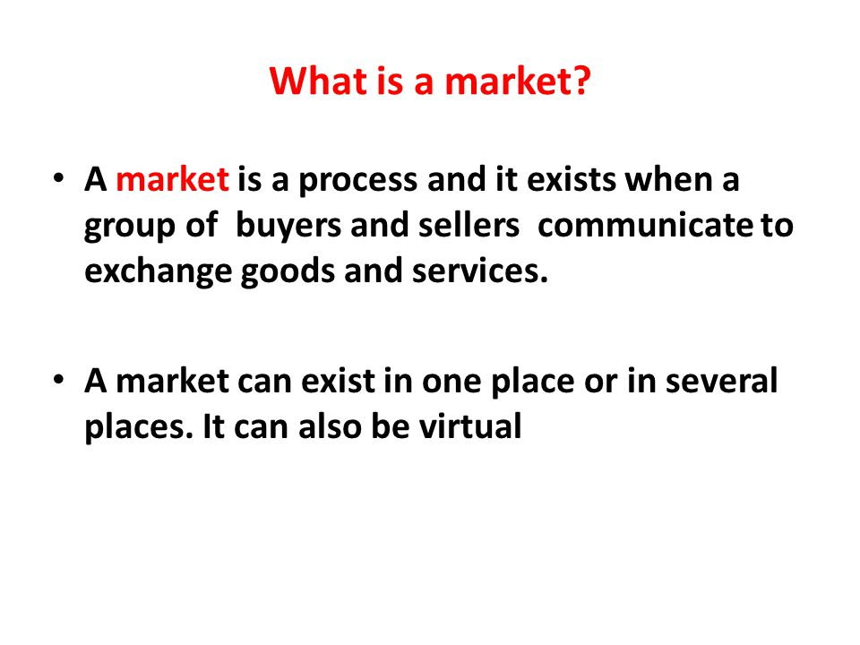 What is exchange market