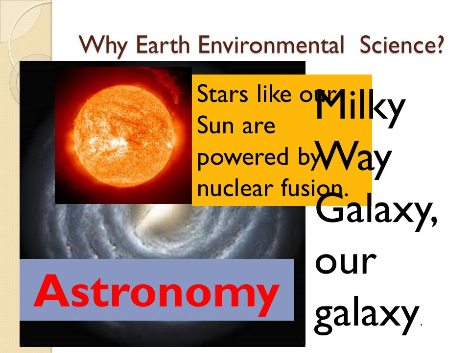 Why Earth Environmental Science