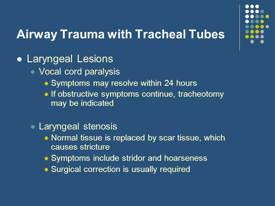 Airway Trauma with Tracheal Tubes
