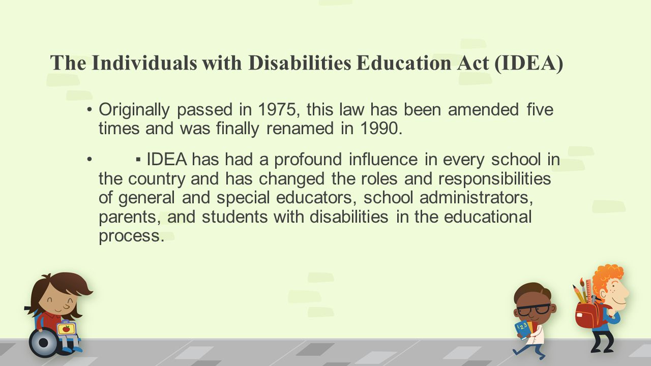 idea individuals with disabilities education act essay The individuals with disabilities education act (idea): proposed regulations for pl.