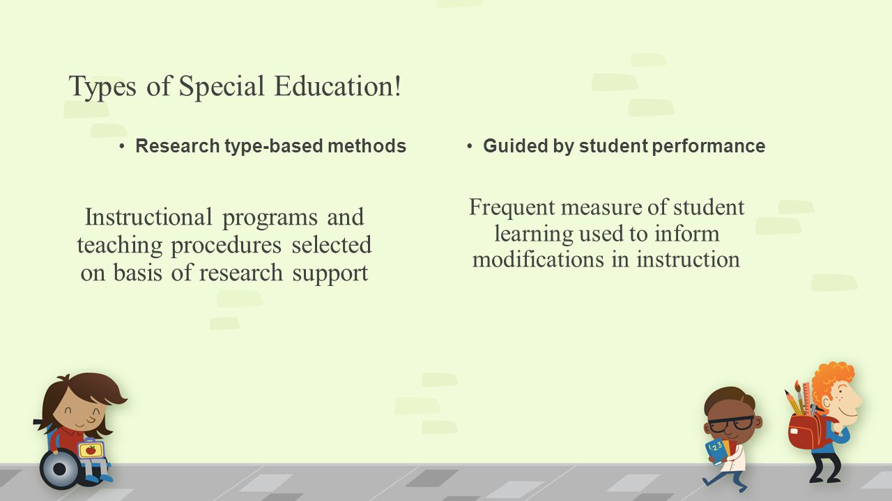 instructional programs for special education