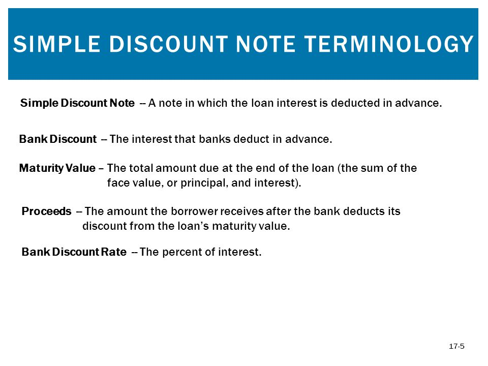 5 Simple Discount Note Terminology  Promissory Note Simple