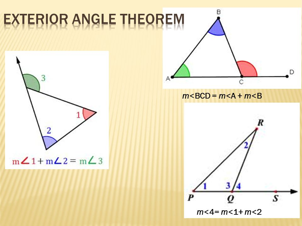 Lesson 4 3 Triangle Inequalities Exterior Angles Ppt Download