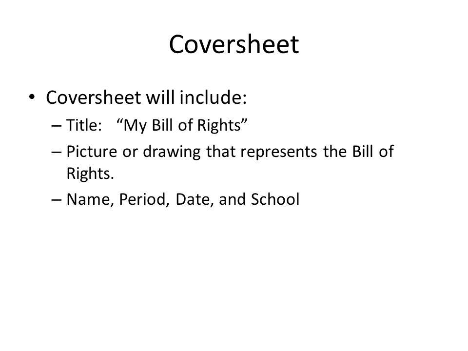 presentation cover sheet