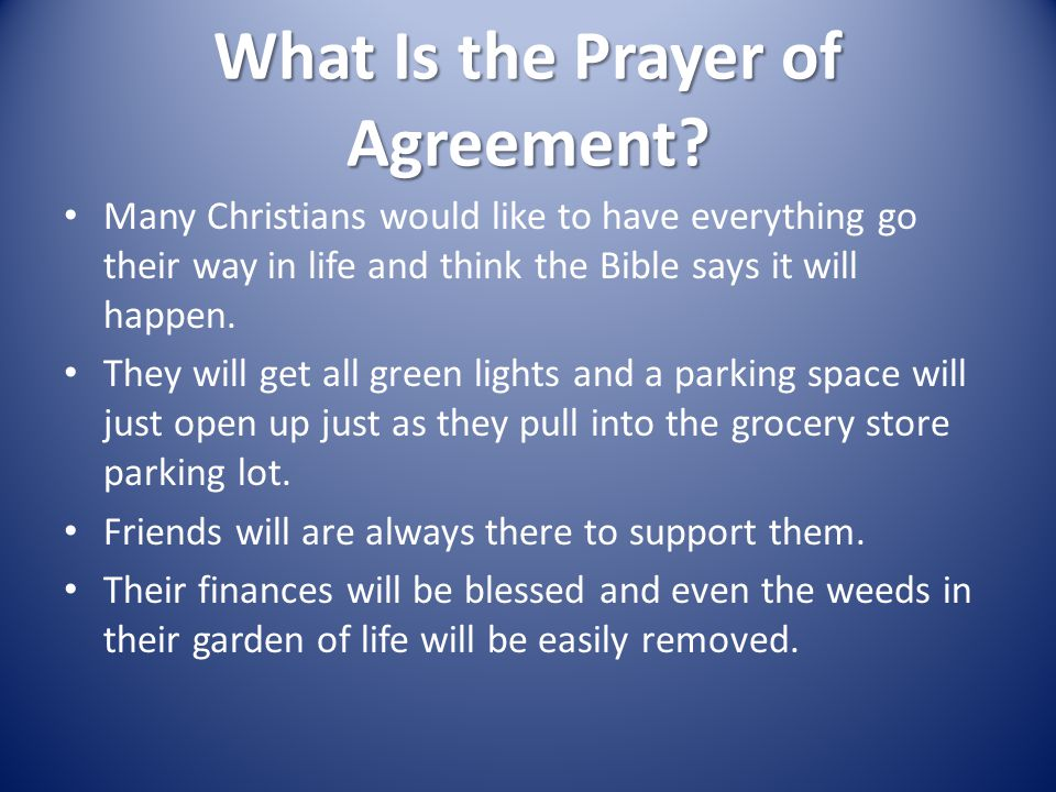 The Kingdom Of God Prayers Of Agreement Ppt