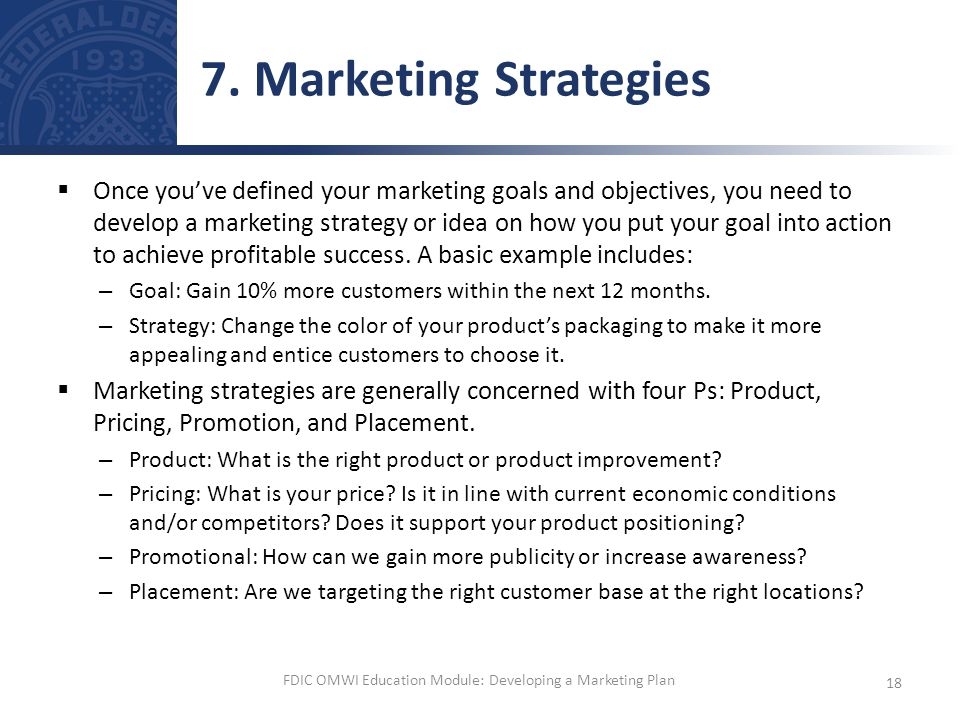 product marketing plan examples