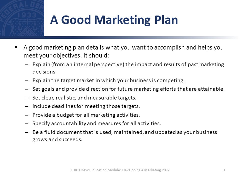 Developing A Marketing Plan  Ppt Video Online Download