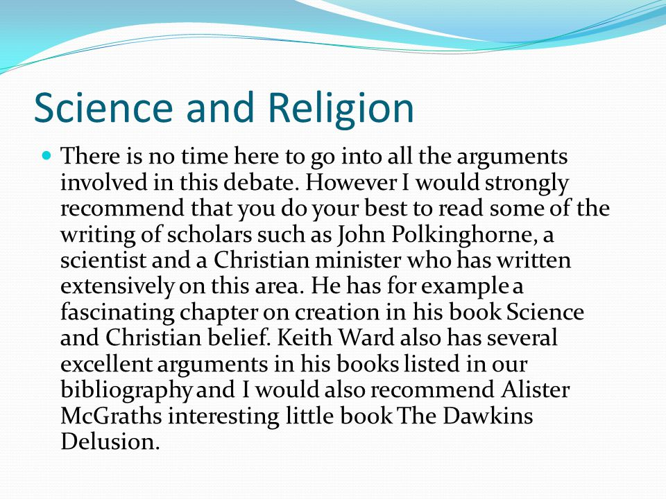 an essay on my scientific and religious beliefs Religious belief is often thought to evince a precarious kind of  he is the author  of the territories of science and religion (2015), and the.