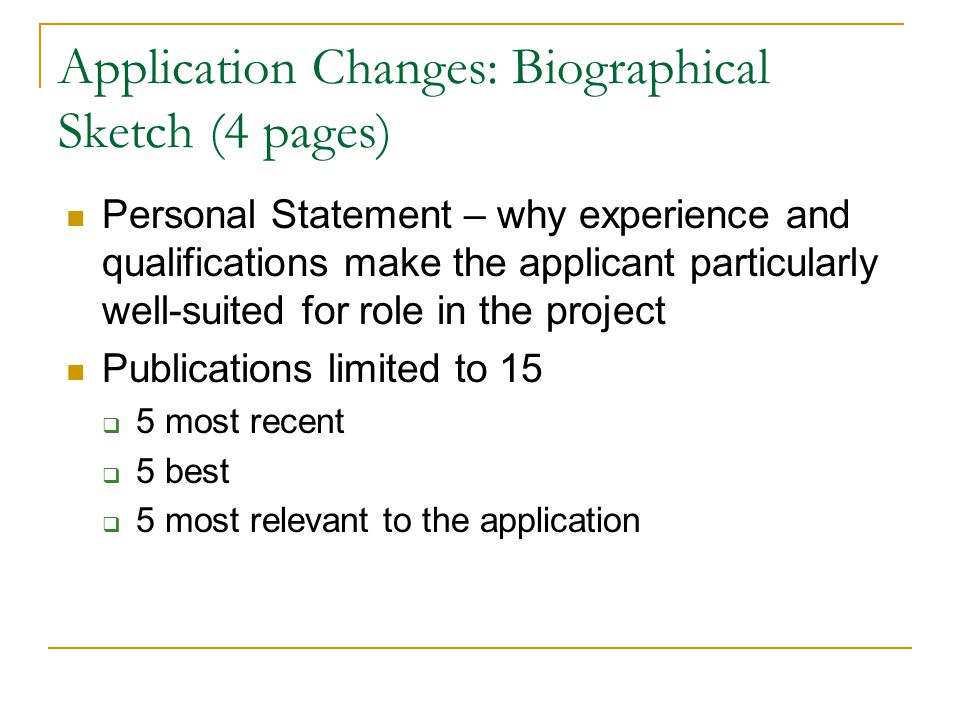 nih biographical sketch personal statement