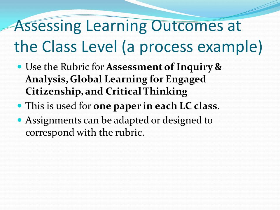 Assessment rubrics: thinking inside the boxes