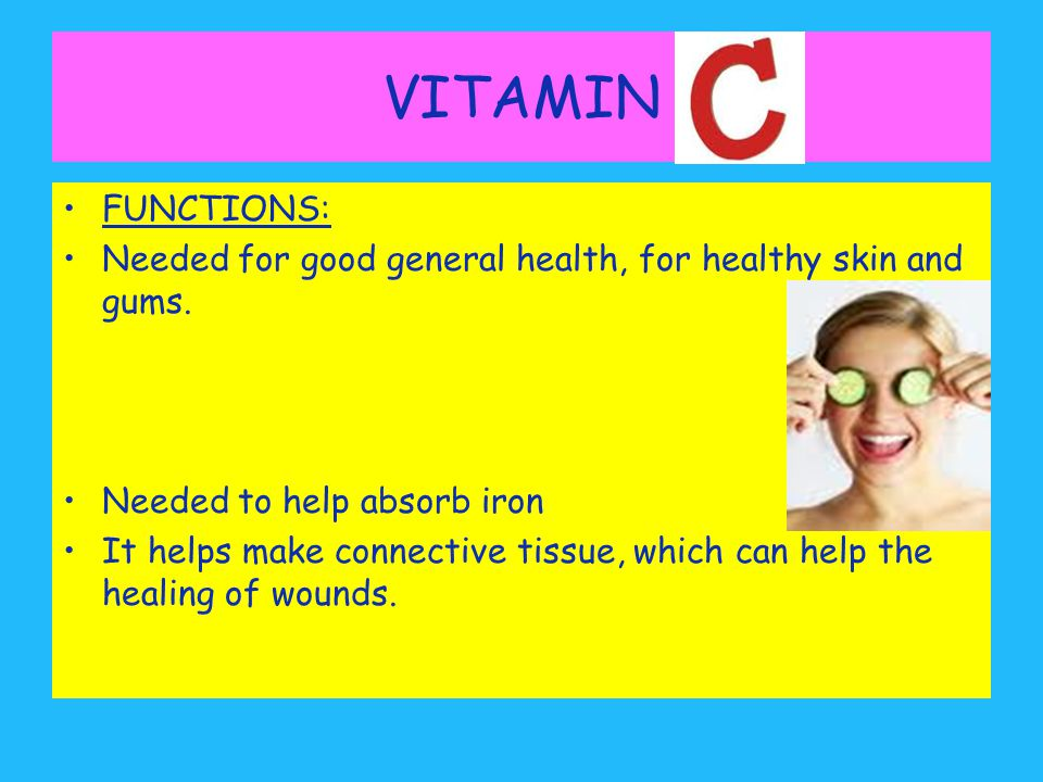 Making History With Vitamin C Powerpoint: NUTRITION © PDST Home Economics.