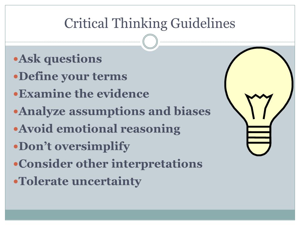 critical assumptions thinking critically about critical thinking Health and physical education in the new zealand curriculum (1999) defines critical thinking as examining, questioning, evaluating, and challenging taken-for-granted assumptions about issues and practices and critical action as action based on critical thinking (page 56.