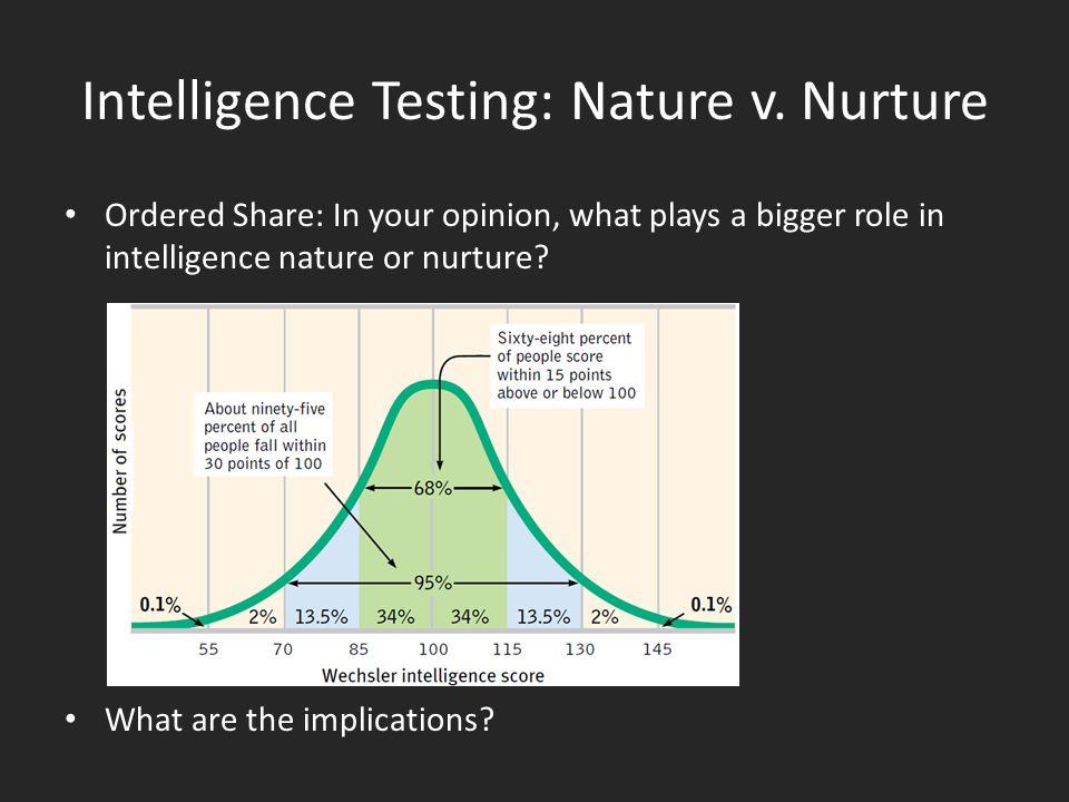 intelligence nature vs nurture psychology