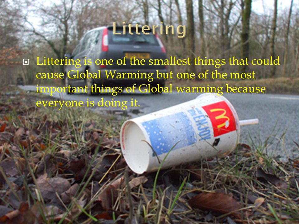 causes of littering Littering effect people overlook while a majority of people do know that littering is a bad thing, many continue to carelessly scatter their trash around nonetheless there are a host of problems that stem from littering, and the environment has been suffering as a result of some people's inability to control this habit.
