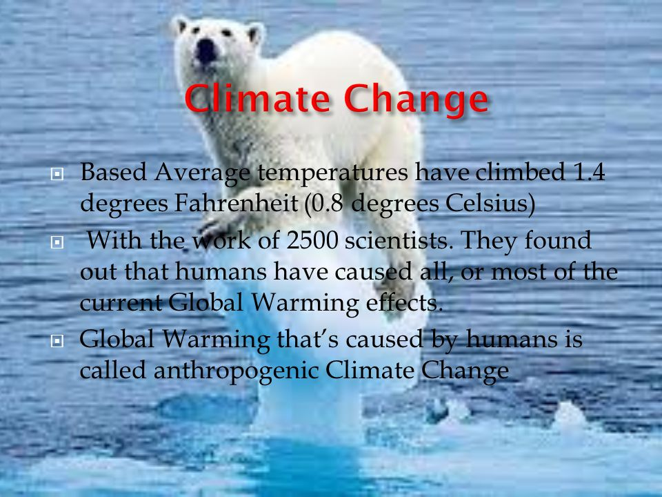 Global warming 6 degrees could change