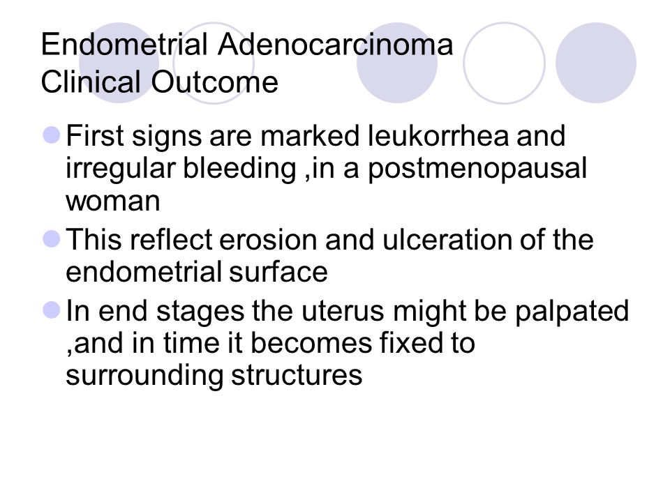 Endometrial Adenocarcinoma Clinical Outcome