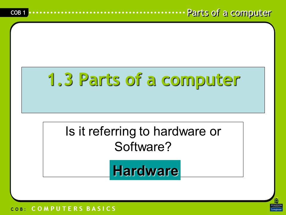 Is it referring to hardware or Software
