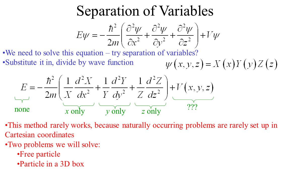 how to find general solution separation of variables