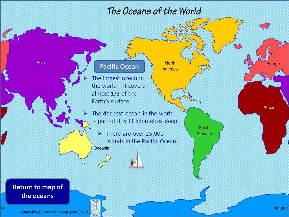 George the geographer finds out about oceans of the world ppt return to map of the oceans gumiabroncs Choice Image
