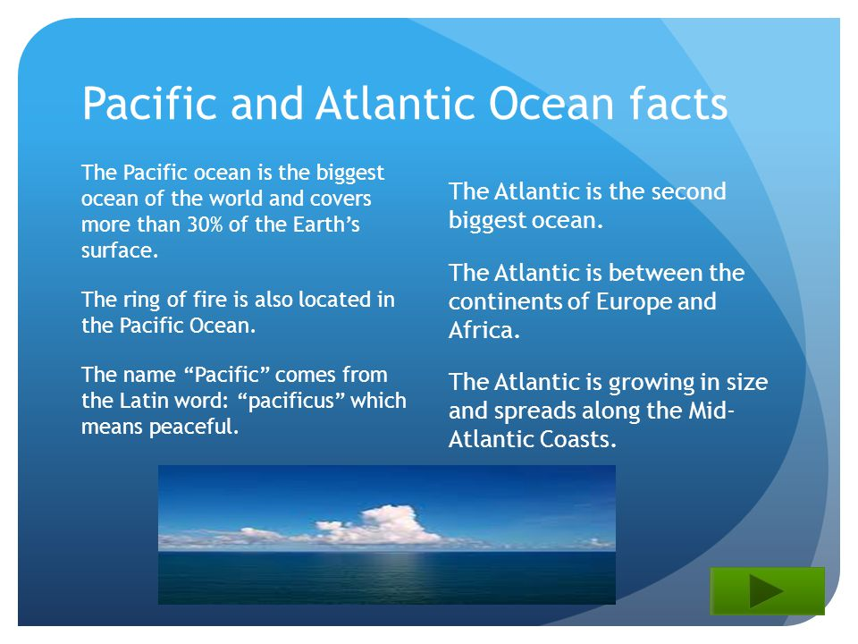 The Five Oceans By Christine Payne Ppt Download - Biggest ocean in the world