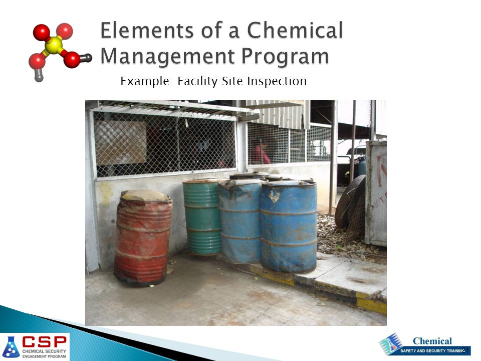 Elements of a Chemical Management Program