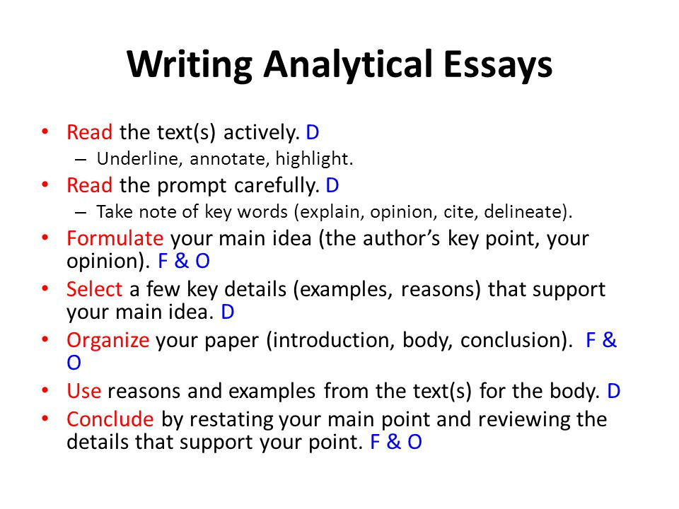 Example Analytical Essay