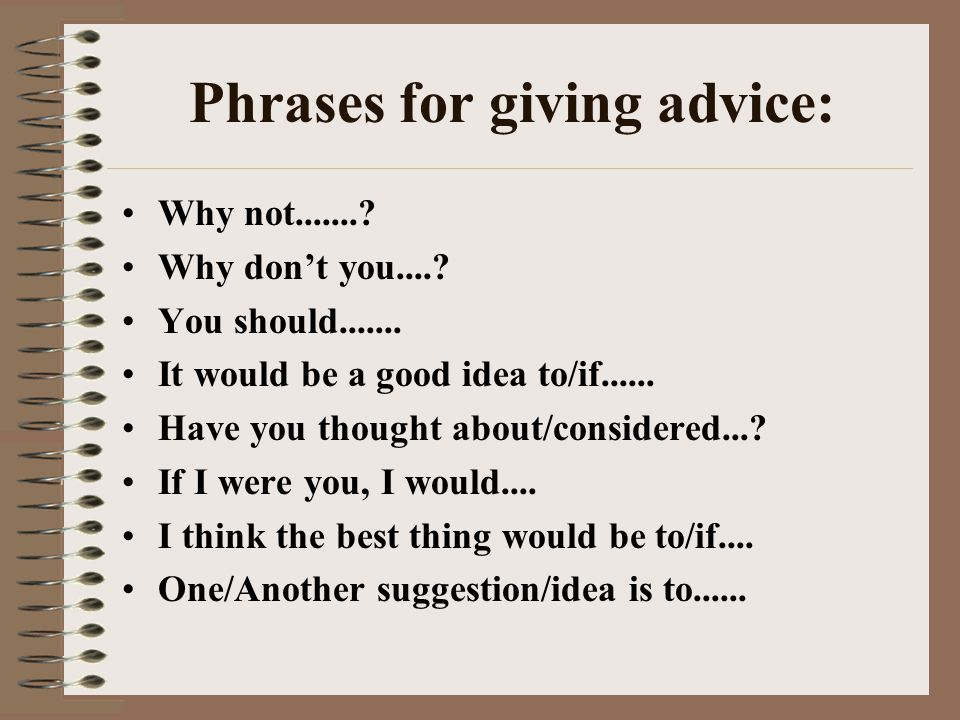 Informal letters giving advice ppt video online download phrases for giving advice spiritdancerdesigns Images
