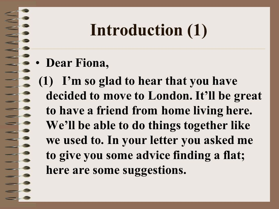Informal letters giving advice ppt video online download 7 introduction spiritdancerdesigns Images