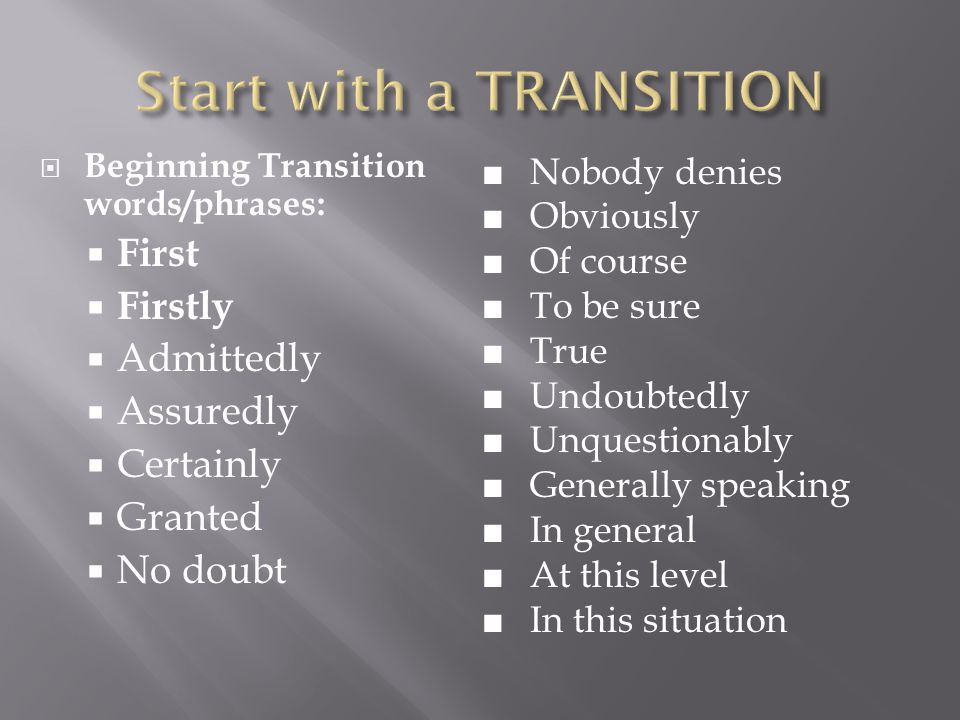 5 paragraph essays transition words