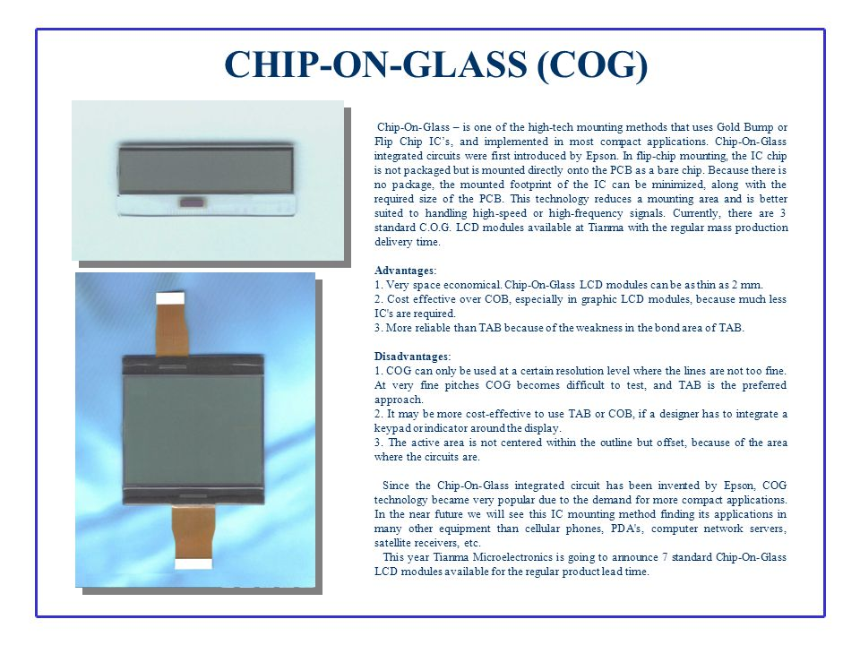 CHIP-ON-GLASS (COG)